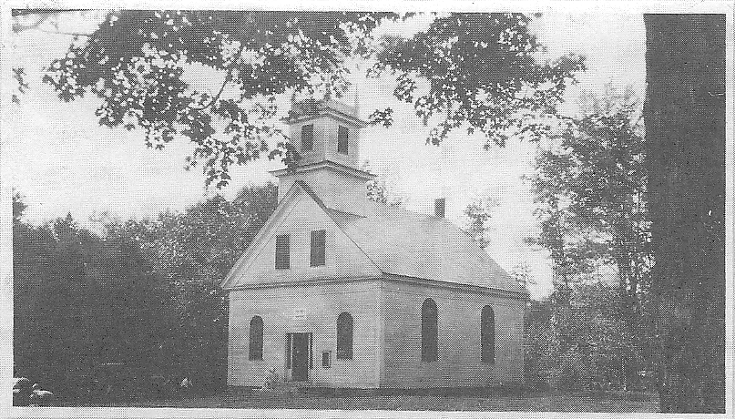 "The Roxbury Meetinghouse, known as ""God's Barn"" , from this 1912 photo, replaced the original meeting house which was raised in 1804. That was used as a place of worship, and following the approval of incorporation in 1812 it was then used for official government business as well."