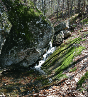 Waterfall on the road to Benjamin Sawyer's farm house