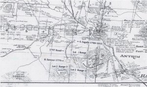 Map of Stoddard Drawn by Charles L. Peirce